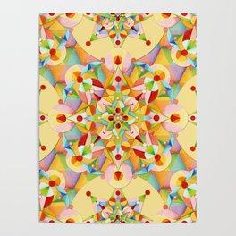 Pastel Mandala Rainbow Poster