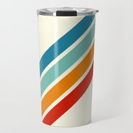 Alator - Classic 70s Retro Summer Stripes Travel Mug