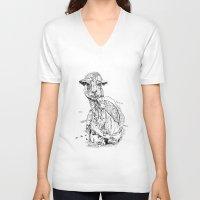 llama V-neck T-shirts featuring Llama by ARI(Sunha Jung)