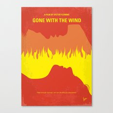 No299 My Gone the Wind with minimal movie poster Canvas Print