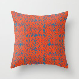 psychedelic abstract pattern Throw Pillow