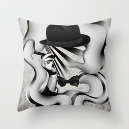 gentle smoke Throw Pillow