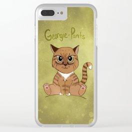 Georgie-Pants Clear iPhone Case