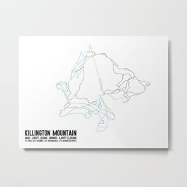 Killington, VT - Minimalist Summer Trail Art Metal Print