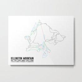 Killington, VT - Minimalist Summer Trail Art Metal Print