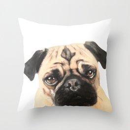 Pugging Love Throw Pillow