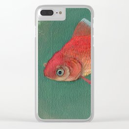 Goldfish #3 Clear iPhone Case