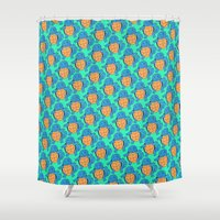 squirtle Shower Curtains featuring Squirtle Squad by pkarnold + The Cult Print Shop