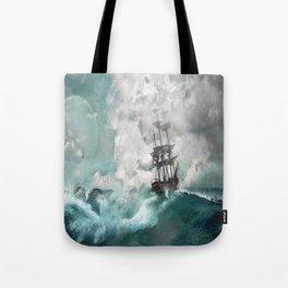 Sailing into a Storm Tote Bag