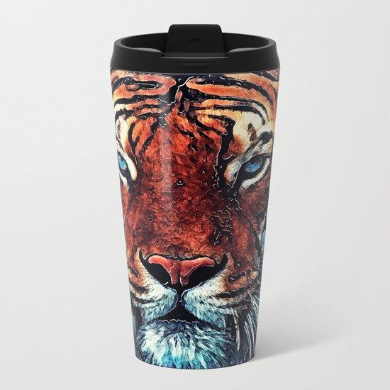 Tiger spirit Metal Travel Mug