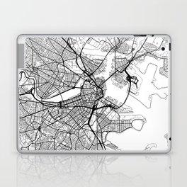 Boston Map White Laptop & iPad Skin
