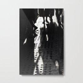 Evening shadows on the street at bazaar Metal Print