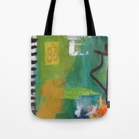 yoga Tote Bags featuring YOGA by Prema Designs