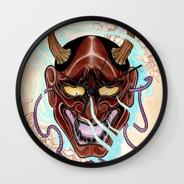 Hanya Mask Wall Clock