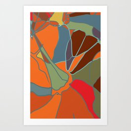 Abstract 2 from autumn colours and pumpkin Art Print