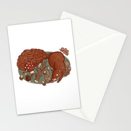 Frolicking Squirrel Stationery Cards