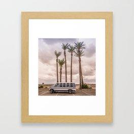 Econoline Palm Parking Framed Art Print