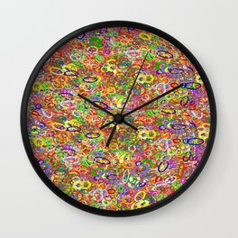 all in a circle   (A7 B0004) Wall Clock