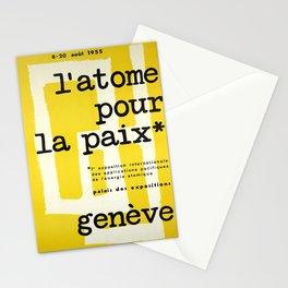 cartel latome pour la paix atomique Stationery Cards