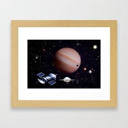 We meet with the Jupiter. Framed Art Print