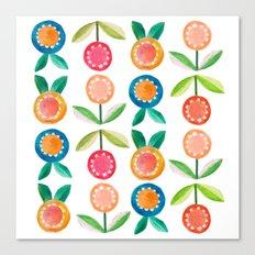 Water colour flowers Canvas Print