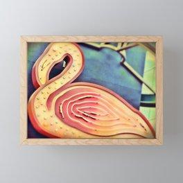 Old Vegas Neon Flamingo Framed Mini Art Print