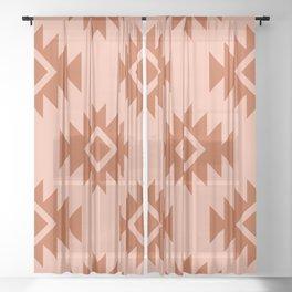 Third Eye Kilim in Coral Sheer Curtain
