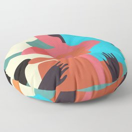 Lost in Your Mind #illustration#art print Floor Pillow