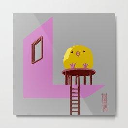 Little Chick ovo Metal Print