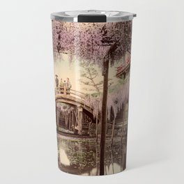 Wisteria at Kameido Travel Mug