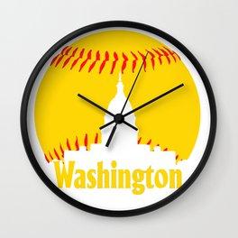 Washington DC Baseball National Mall Skyline Wall Clock