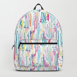 Rainbow Doodle & Dot Backpack