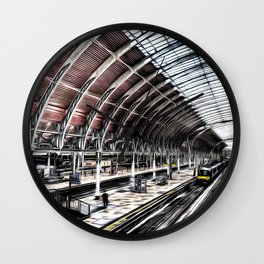 Paddington Station Art Wall Clock