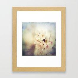 White Poppy Grudge Framed Art Print