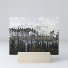 Loch,trees and mountains, Scottish Highlands Mini Art Print
