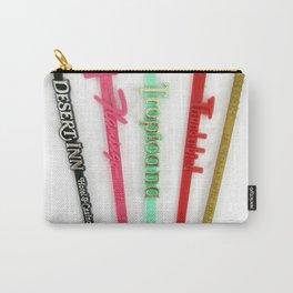 Vintage Las Vegas Swizzle Sticks Carry-All Pouch
