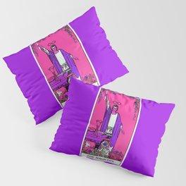 1. The Magician- Neon Dreams Tarot Pillow Sham