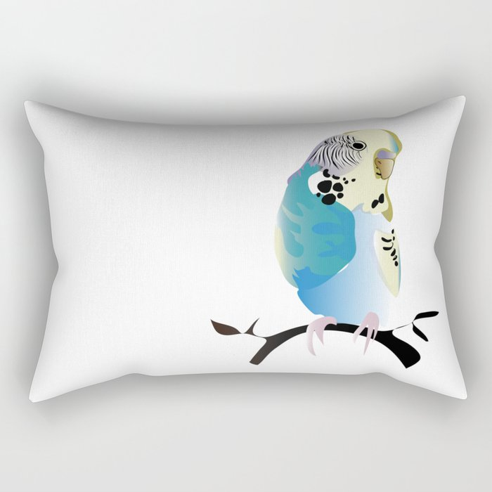 Budgie Love Rectangular Pillow