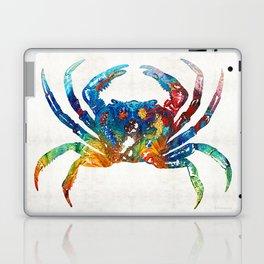 Colorful Crab Art by Sharon Cummings Laptop & iPad Skin