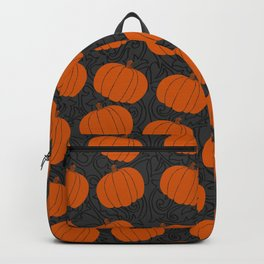 Cute Pumpkins on Grey Background Backpack