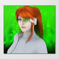 cyberpunk Canvas Prints featuring Cyberpunk  by miz-inthesky
