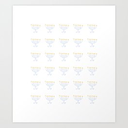 menorah 13- Hanukkah,jewish,jew,judaism,Festival of Lights,Dedication,jerusalem,lampstand,Temple, מְ Art Print