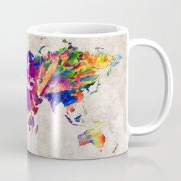 World Map 50 Coffee Mug