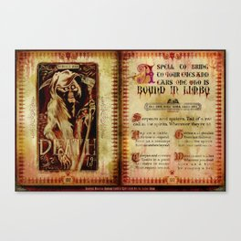 Spell Book from Madame Leota Canvas Print
