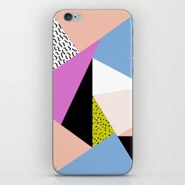 80s Retro Geometric Pattern 5 iPhone Skin