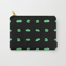 Teal lips on black Carry-All Pouch