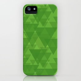 Gentle green triangles in intersection and overlay. iPhone Case