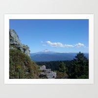 Mountain magnificence  Art Print