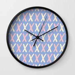 Upper Case Letter X Pattern Wall Clock