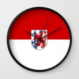 flag of Düsseldorf or Dusseldorf Wall Clock
